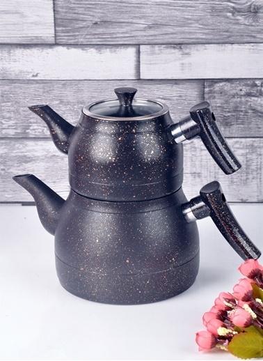 Bayev Granit Renkli Çaydanlık Takımı(Siyah) Siyah